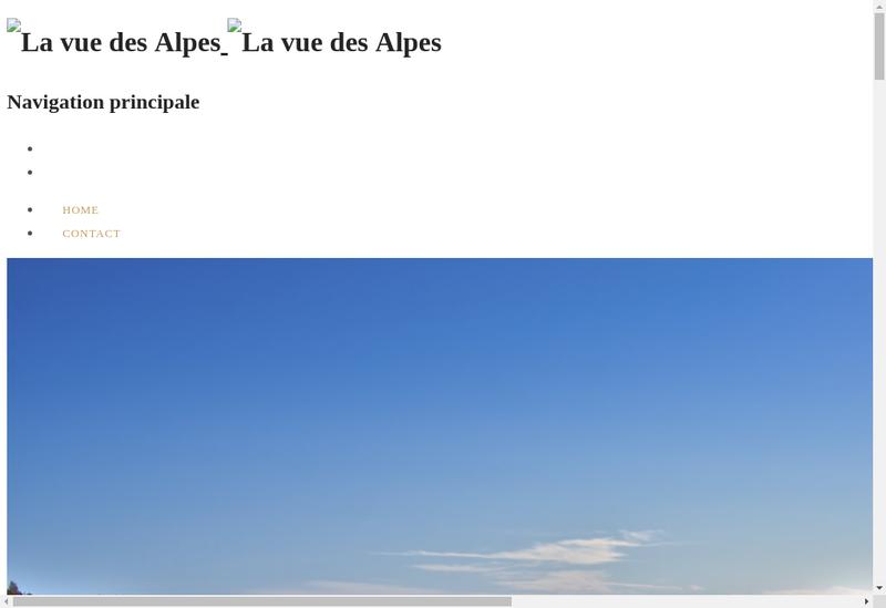 Capture d'écran du site de La Vue des Alpes