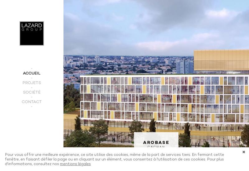 Capture d'écran du site de Lazard Group Real Estate