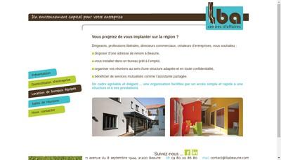 Site internet de Lba Communication - Lba Centres Affaires