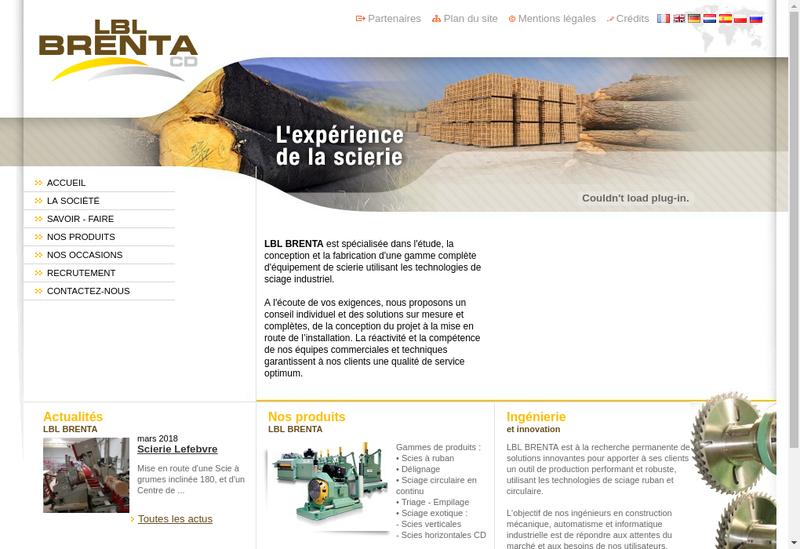 Capture d'écran du site de Lbl Brenta