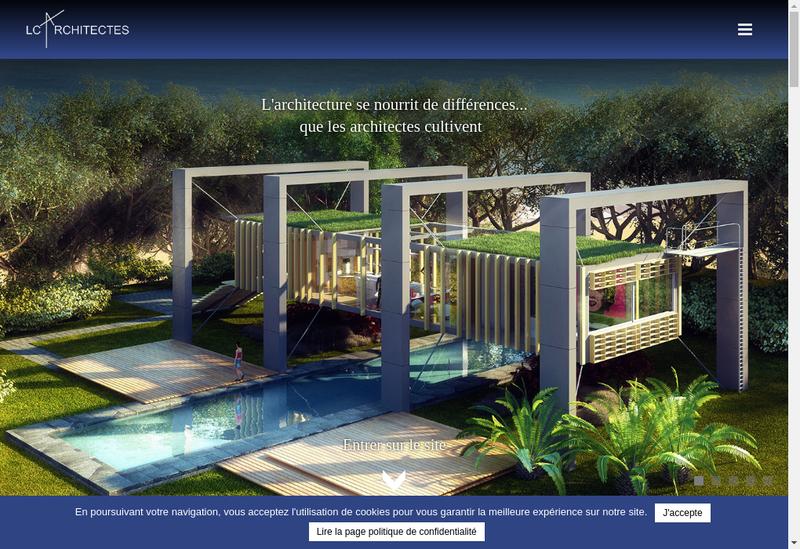 Capture d'écran du site de Lc Architectes