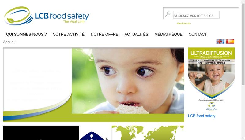 Capture d'écran du site de Lcb Food Safety