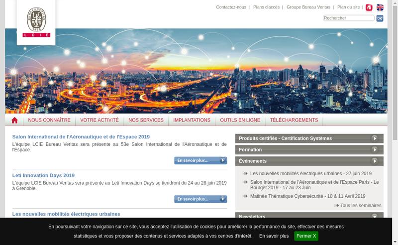 Capture d'écran du site de Laboratoire Central Industrie Electrique