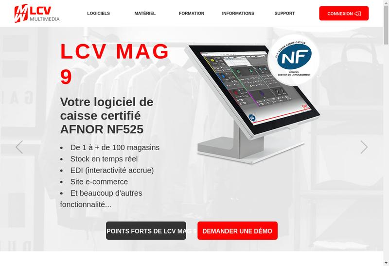 Capture d'écran du site de Lcv Multimedia