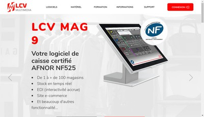 Site internet de Lcv Multimedia