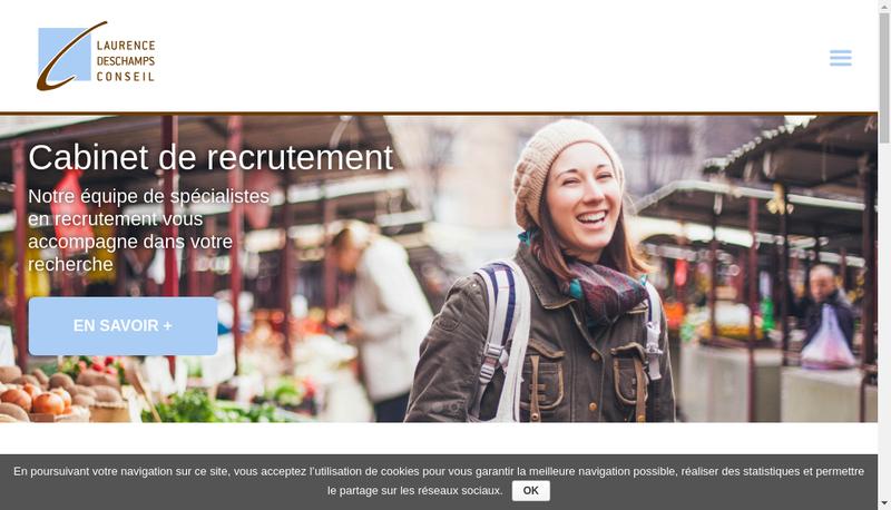 Capture d'écran du site de Laurence Deschamps Conseil