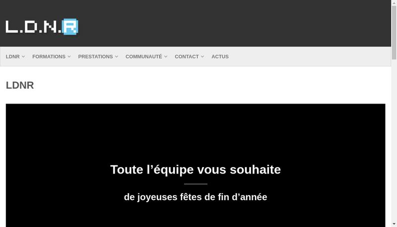Capture d'écran du site de LDNR
