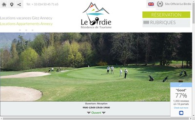 Site internet de Residence le Birdie