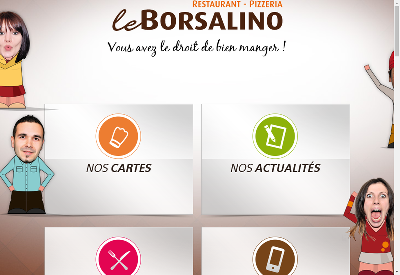 Capture d'écran du site de Le Borsalino