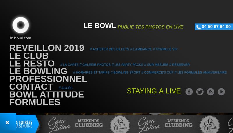 Capture d'écran du site de Le Bowl