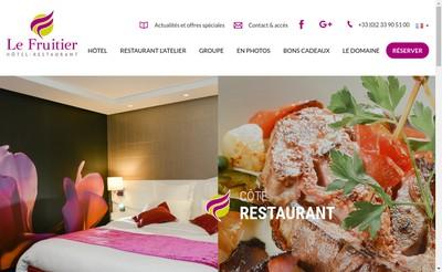 Site internet de Sn Hotel Restaurant le Fruitier