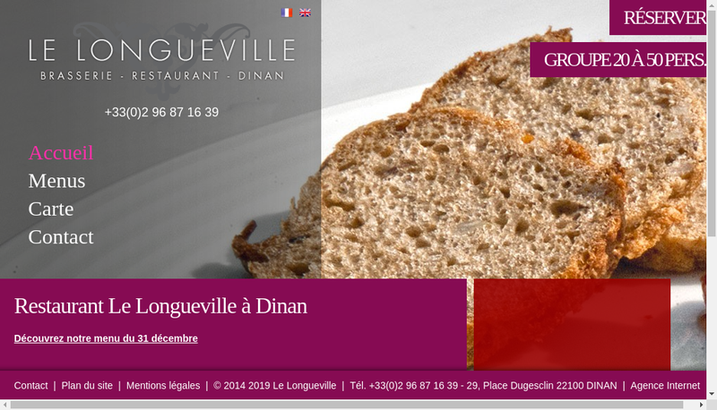 Capture d'écran du site de Le Longueville