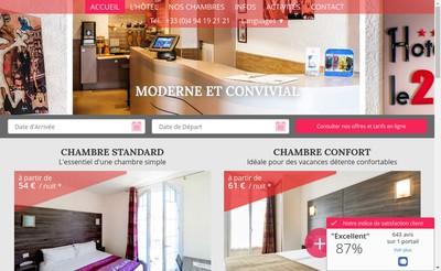 Site internet de Le 21 Hotel