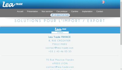 Capture d'écran du site de Lea Trade Finance