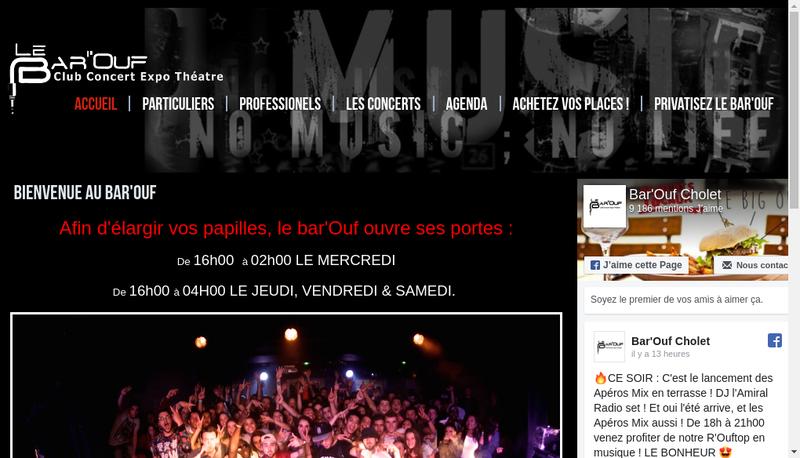 Capture d'écran du site de Le Bar'Ouf