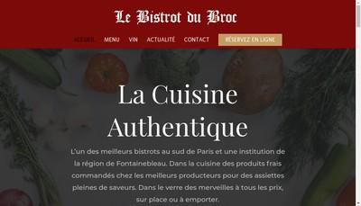 Site internet de Le Bistrot du Broc