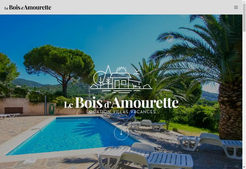 Capture d'écran du site de Location à Bormes les mimosas - Gîte Le Bois d'Amourette