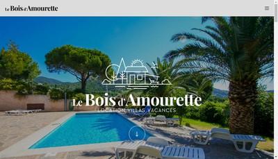 Site internet de Location à Bormes les mimosas - Gîte Le Bois d'Amourette