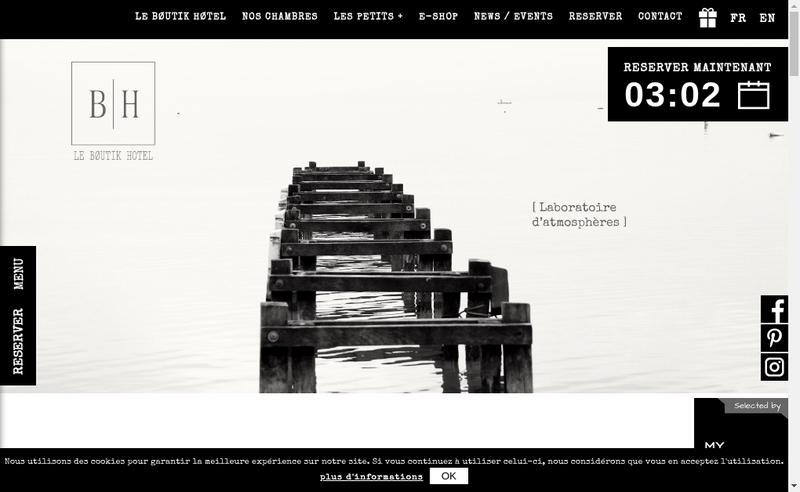 Capture d'écran du site de Le Boutik Hotel