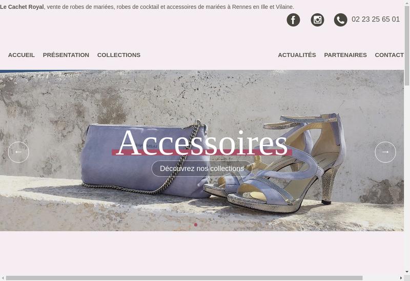 Capture d'écran du site de Le Cachet Royal