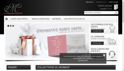 Capture d'écran du site de Marcotullio Receptions France