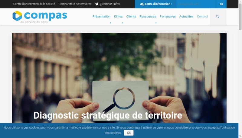 Capture d'écran du site de Compas Tis