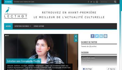 Capture d'écran du site de Editum