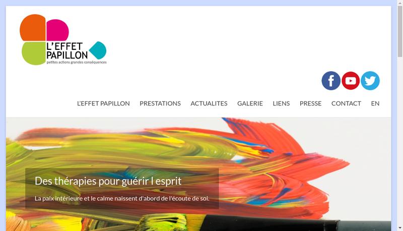 Capture d'écran du site de L'Effet Papillon