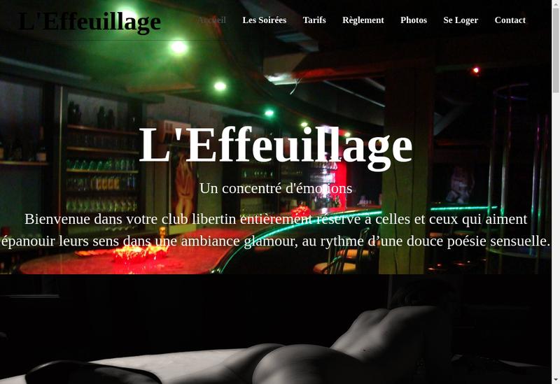Capture d'écran du site de L'Effeuillage