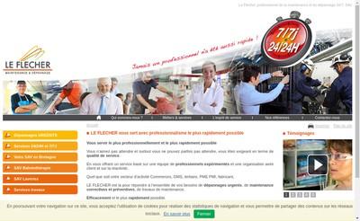 Site internet de Le Flecher