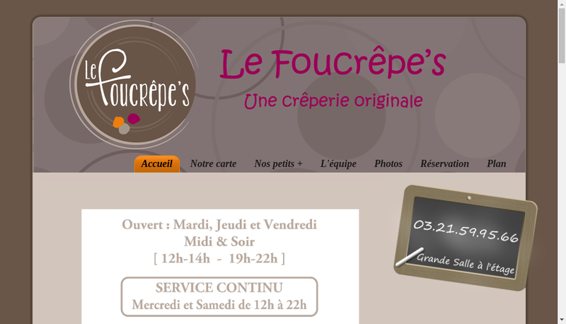 Capture d'écran du site de Le Foucrepe'S