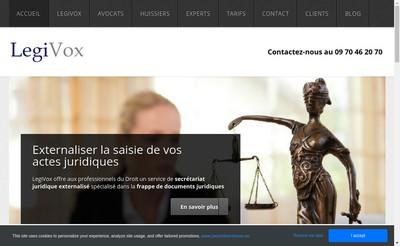 Site internet de Legivox