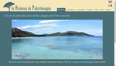 Site internet de SARL le Hameau de Palombaggia