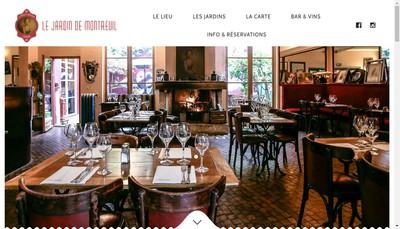 Site internet de Le Jardin de Montreuil