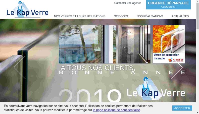 Capture d'écran du site de Le Kap Verre Flandres