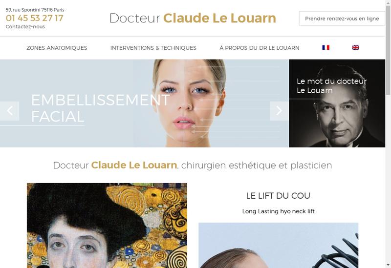 Capture d'écran du site de Dr Claude le Louarn