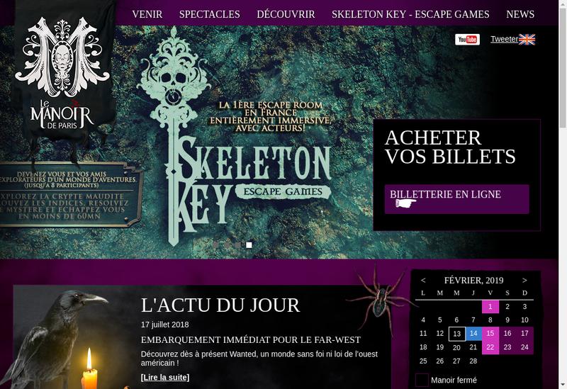 Capture d'écran du site de Le Manoir