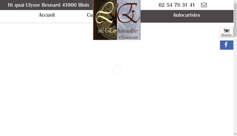Capture d'écran du site de L'Embarcadere