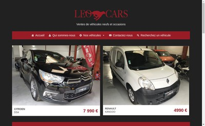 Site internet de Leo Cars