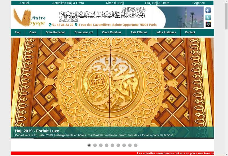 Capture d'écran du site de Paris Corse Accueil