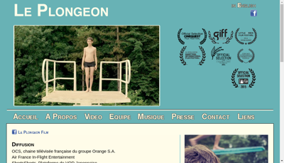Capture d'écran du site de Le Plongeon des Pirates