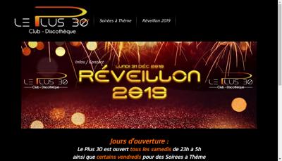Capture d'écran du site de Le Vip Club