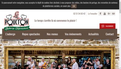 Capture d'écran du site de La Route de La Sardine