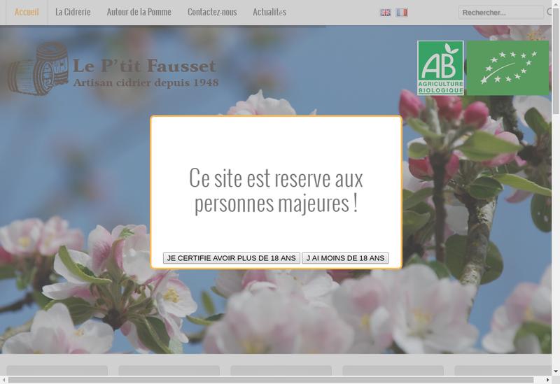 Capture d'écran du site de Le P Tit Fausset