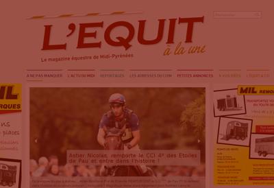 Capture d'écran du site de L'Equit à la Une