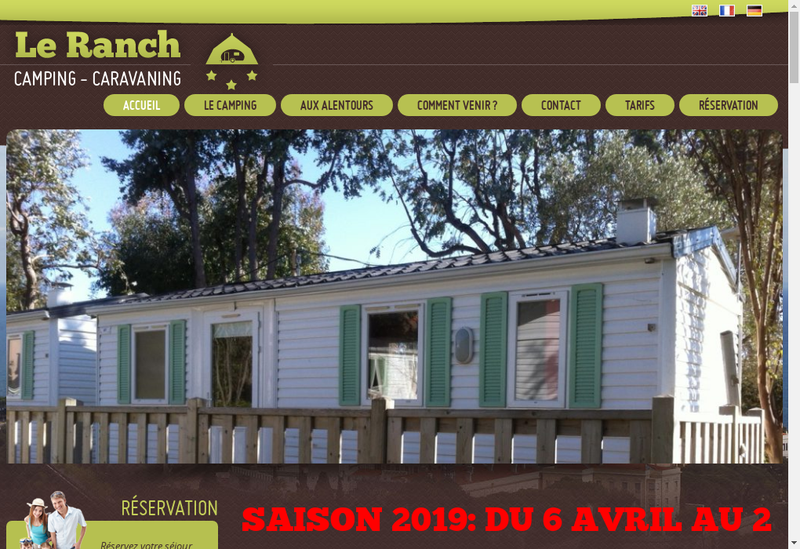 Capture d'écran du site de Societe Ranch Camping