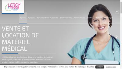 Capture d'écran du site de Leroy Medical