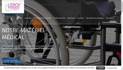 Site internet de Leroy Medical