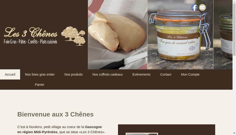 Capture d'écran du site de Les 3 Chenes