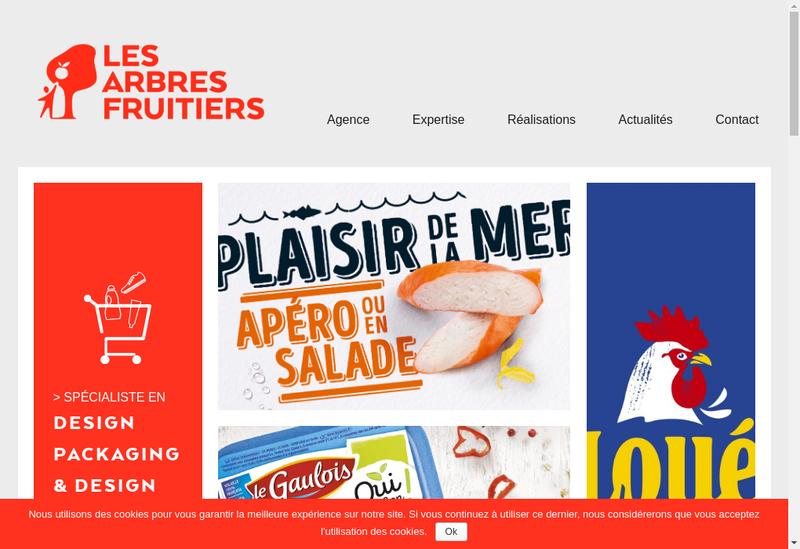 Capture d'écran du site de Les Arbres Fruitiers